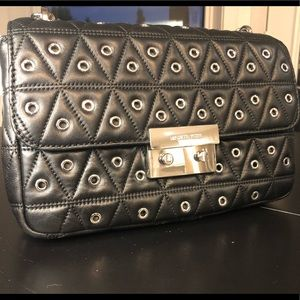 Michael Kors Sloan Large Chain Black leather bag